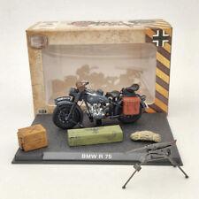 BMW R75 Motorcycle World War II 1939-1945 Black 1:24 Diecast Model Collection