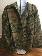 USMC PROPPER Uniform WOODLAND DIGITAL CAMO Combat Shirt Size 35S M-R