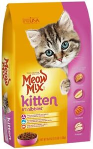 Meow Mix Kitten Li'L Nibbles Dry Cat Food (1) 3.5 LB Bag