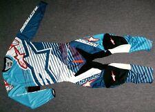 Alpinestars Racer Braap Cross Combo 34/L Hose Jersey MX Enduro Thor Fly Blau Fox