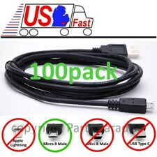 Lot100x/pk 6ft Usb Micro 5pin Digital Camera/Phone/Charger/Sync /Data Cable/Cord