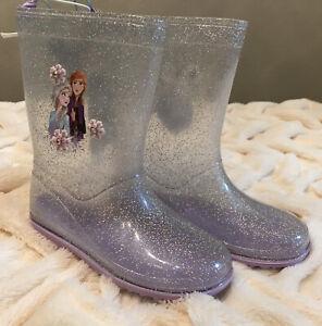 NWT Disney store ANNA & ELSA RAIN BOOTS Frozen shoes SIZE  US 13