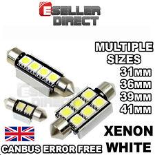 CAR LED BULBS ERROR FREE CANBUS 31/36/39/41mm WHITE FESTOON INTERIOR