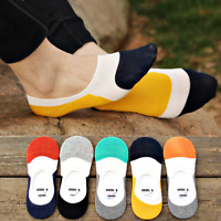 5/10 Pairs Men Cotton Loafer Boat Invisible No Show Casual Liner Low Cut Socks