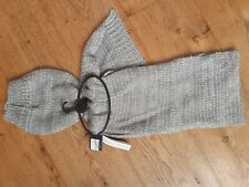 BNWT Marks and Spencers Collection Light Grey Silver Knitted Scarf and Hat