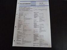 Original Service Manual  Telefunken CN 750