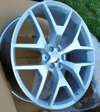 24 Inch Silver Machined Replica 288 G04 Rims Wheels Honeycomb Snowflakes 22 26
