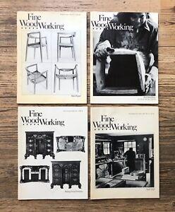 FINE WOODWORKING MAGAZINE: 4 VOLUMES No. 21 - 24, Hans Wegner (1980)