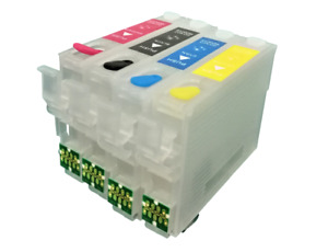 FOR Europe Compatible With Epson 603XL, Refillable Ink Cartridges Set Of 4,