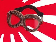 WWII WW2 Imperial Japanese Navy Pilot Flight Goggles Retro Classic Style RARE!