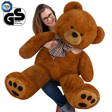 Teddybär Plüsch Bär Teddy Kuscheltier Stoff Plüsch Tier Plüschbär Braun 100cm XL
