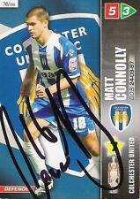 A Panini 2008 card. Personally signed by Matt Connolly of Colchester United.