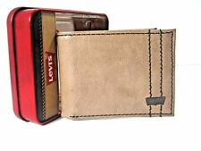Levi's Mens Bifold Leather Wallet Brown 31LP130001