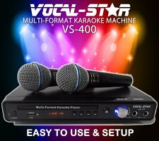 Vocal-Star VS-400 DVD CDG MP3 Karaoke Machine Player 2 Microphones & Songs XDEM
