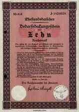 Ehestandsdarlehen 1933 Deutsches Reich 10 Reichsmark  Graf Schwerin von Krosigk