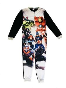 Boys Marvel Avengers 1Onesie 1 Piece All In One Fleece Pyjamas Age 3-10 Years