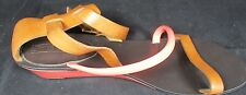Juicy Couture Hot Pink and Tan leather gladiator style sandals Size 9M