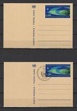Nations Unies Genève 2 entiers postaux 1 neuf & 1 tampon date 1969 /B5N-U32