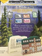NEW RARE National Parks Postage Stamp collection. Cat's Meow Wood Boxed Set.