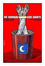 "Cuban decor Graphic Design movie Poster""O Lucky Man""British film.UK.Hand art"