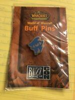 World Of Warcraft 2007 Blizzcon Buff Pin — Mage ARCANE INTELLECT — Blizzard NIB