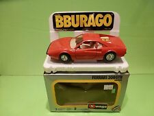 BBURAGO 0148 FERRARI 308 GTB - RED 1:24 - GOOD IN BOX