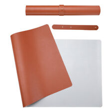 "Desk Pad Office Mat 31.5"" X 15.7"" PU Leather Blotter Laptop BROWN 31.5''X15.7''"