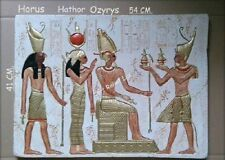 FLACHRELIEF Ägyptische Relief Hathor Egypt Ägypten Stuck gips Skulpturen Bild