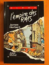 L'empire des Rats. James Herbert -Blême Albin Michel