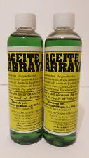 2X Arrayan Oil for Massages tired muscles Aceite de Arrayan para Cansancio 120ml