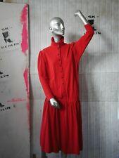ROBERTO G FONTANA Kleid 36/38  80er rot Winter TRUE VINTAGE 80s red Xmas dress
