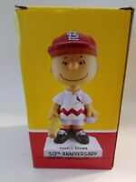 Springfield Cardinals Bobblehead Charlie Brown  Peanuts 50th SGA with ticket NIB