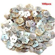 Lot de 100 Perles Bouton en Nacre Coquillage Fleur 15mm T9K1