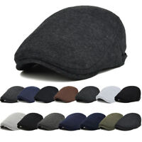 FT- Newsboy Cap Mens Hat Golf Driving Flat Cabbie Beret Driver Hat Warm Healthy