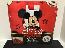 Disney's Mickey Mouse Calming Weighted Blanket 4.5 pounds Stars Red Nwt