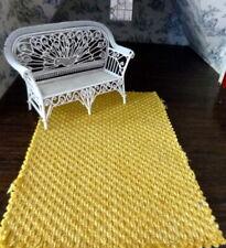 "Designer Fabric 1:12 ITALIAN DOLLHOUSE RUG 9"" x 6"" Lee Jofa"