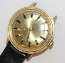 Timex Vintage gents wrist watch mechanical Working Gold coloured used No strap