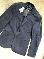 """TED BAKER NAVY BLUE """"ONETWOS"""" LINEN TENCEL BLAZER JACKET - SMALL 2 - NEW & TAGS"""