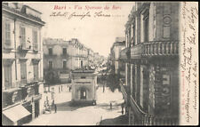 tarjeta postal BARI calle tiran de BARI