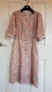 Rouge Dune Dress Liberty Fabric Size 34