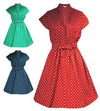 Cotton Collar Midi Plus Size Dresses for Women