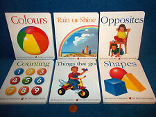 FIRST DISCOVERIES BOARD BKS x 6 - COUNTING, COLOURS, RAIN, SHAPES, OPPOSITES..