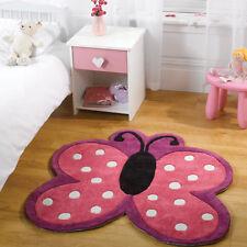 Flair Rugs Kiddy Play Polka Butterfly Childrens Rug, Multi, 90 x 90 Cm