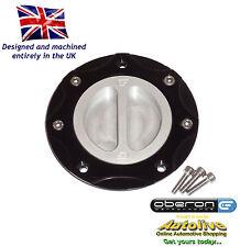 Oberon Performance Kawasaki Fuel/Gas/Race Cap Kit #FUE-0406-BLACK-SILVER