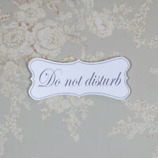 White wooden wall hanging Do Not Disturb door plaque sign shabby vintage chic