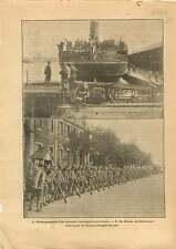 WWI US Navy Sammies Contingent américain Port de Saint-Nazaire 1917 ILLUSTRATION