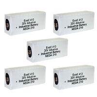 5x Exell 413A Alkaline 30V Battery NEDA 210, 20F20, BLR123 ER413 FAST USA SHIP