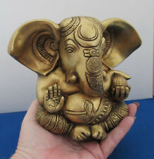 Hindu Lord Ganesh Prosperity Elephant God Brass Metal Statue Figurine #BST152