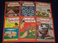 1933 RADIO CRAFT MAGAZINE LOT OF 11 ISSUES - GREAT COVERS & ADS - O 2626