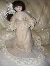 """Vintage Musical Porcelain Doll 17"""""""